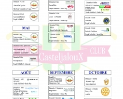 CALENDRIER DES COMPETITIONS 2019